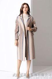 服装店都是怎么拿货的卡芙苪大口袋双面羊毛羊绒呢