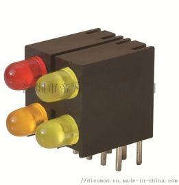 進口LED燈座含燈模組3mm紅綠藍黃燈 雙孔