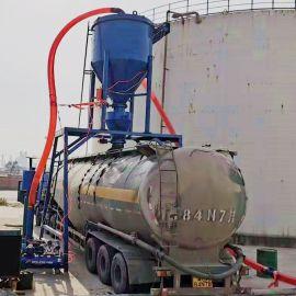 风力环保粉煤灰吸料装车机无扬尘水泥干粉送料机