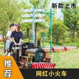 骑乘式轨道观光小火车网红蒸汽小火车颜值高