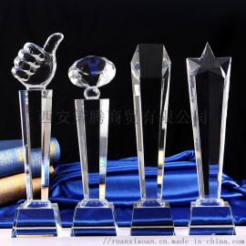 西安创意笔筒水晶三件套 水晶奖盘 同学聚会留念奖杯