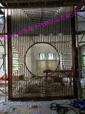 黑钛金不锈钢客厅隔断专业定做