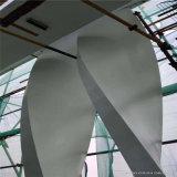 2.0厚木紋拉彎鋁方管 矩形型材扭曲鋁方管吊頂