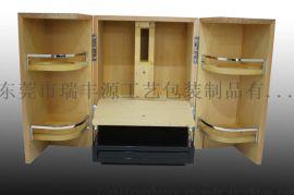**洋酒盒/实木板清漆双开门造型/礼品收藏酒盒
