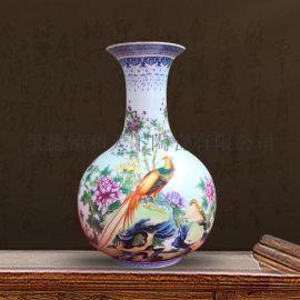 景德镇陶瓷器手绘仿古青花瓷花瓶摆件