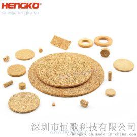 恒歌生产铜烧结滤芯, 高精度铜烧结过滤器, 定制形状