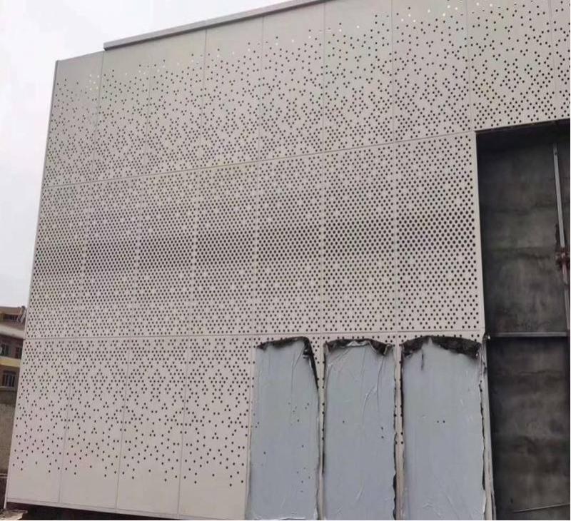 冲孔铝幕墙图案 冲孔铝单板外墙设计