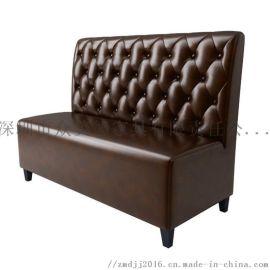 皮革沙发定制,茶餐厅沙发卡座,火锅店卡位沙发加工厂