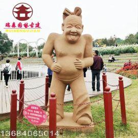 贵州雕塑厂,泥塑景观人物塑像定制生产厂家