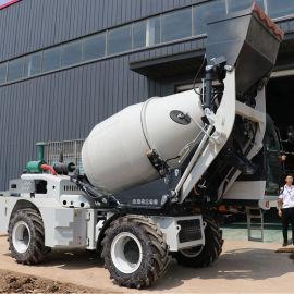 移动式自上料混凝土搅拌车工程机械搅拌机
