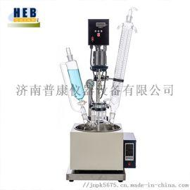 1L小型单层玻璃反应釜F-1L 可定做1-200L