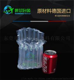气泡柱百事可乐充气袋饮料双瓶可乐罐气柱袋包装