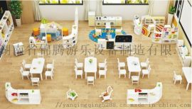 益阳阅览室配套幼儿园家私款式新潮儿童桌椅柜子教玩具