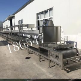 食品就机械-火锅丸子蒸煮流水线连续式-蒸煮漂烫设备