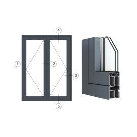 广东兴发铝材创高AL7024A|B系列外平开门