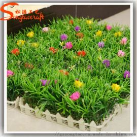 尤加利仿真植物墙加密塑料米兰尤加利草皮