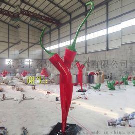 促进农业农村加快发展玻璃钢辣椒雕塑模型