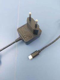 血压仪电源适配器,5V1A欧规60601认证