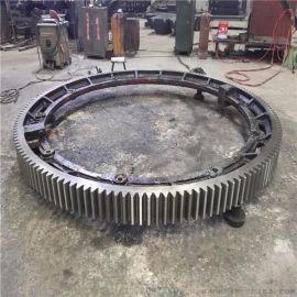 宽度180mm哈弗式焊接弹簧板结构滚筒烘干机大齿轮配件专业生产厂家