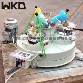 小型研磨机 XPM120*3三头研磨机 玛瑙研磨机