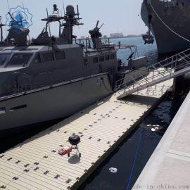 水上浮台游泳池浮台摩托艇停靠浮台码头
