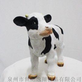 厂家直销创意礼品树脂动物农场动物奶牛摆件