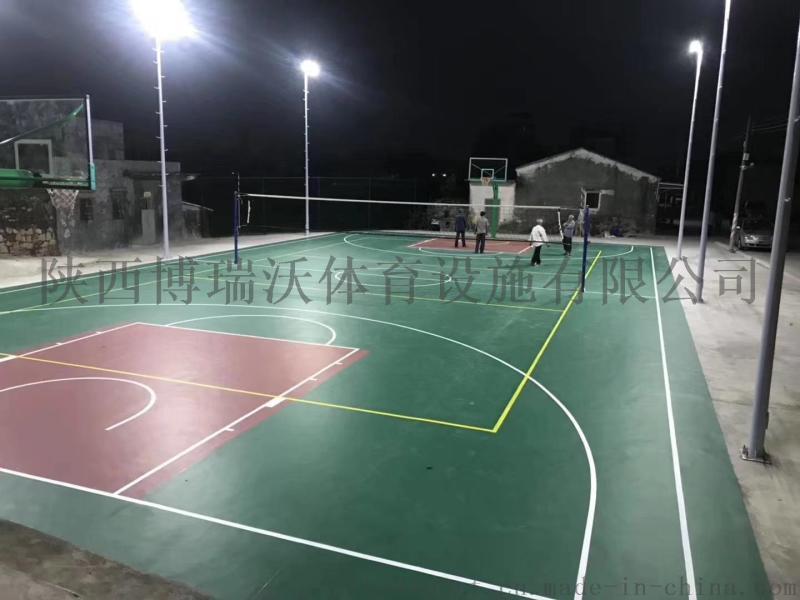 卷材篮球场,篮球场卷材材料每一平方报价