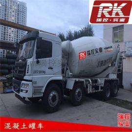 干混砂浆水泥商砼搅拌车轩德6系8x4混凝土运输车