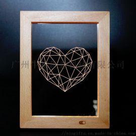 创意ins爆款木质相框定制 婚礼纪念品相框定制