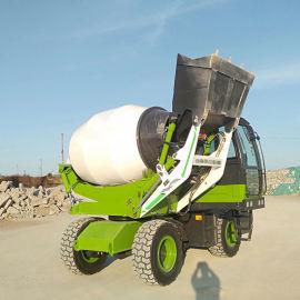 供应流动的水泥搅拌车 小型自动上料混凝土搅拌车