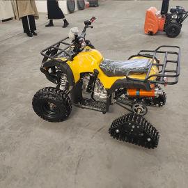 6.5马力电启动扫雪机 摩檫轮汽油抛雪机