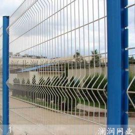 广东园林别墅三角折弯包塑桃形柱护栏