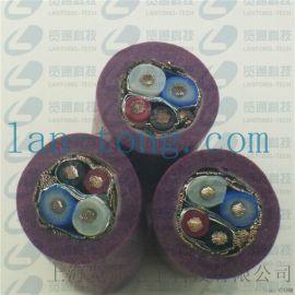 5芯紫色devicenet  五芯电缆线