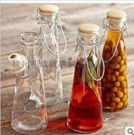 密封玻璃酸奶瓶手提果汁瓶奶茶店   陶瓷盖泡茶瓶子