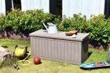 戶外塑料仿木紋儲物箱花園庭院防水防紫外線工具箱