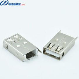 USB连接器 母座 单层直插 大电流