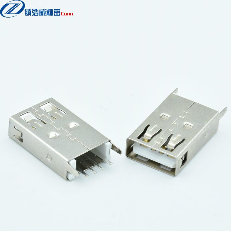 USB連接器 母座 單層直插 大電流