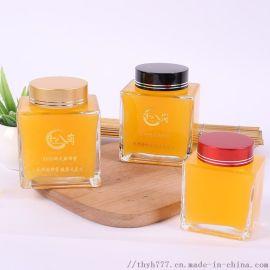 无铅  加厚透明玻璃瓶蜂蜜瓶燕窝瓶四方瓶密封瓶