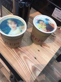上海咖啡机租赁拉花打印定制logo