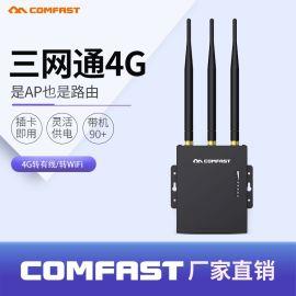 COMFAST CF-E7 4G路由器插SIM卡