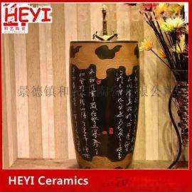 景德镇复古台上盆方形家用卫生间陶瓷艺术台盆