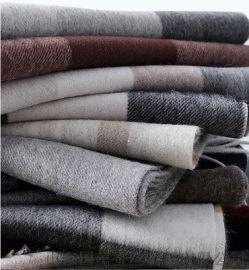 秋冬薄款男士羊毛围巾可定制批发