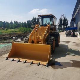 工程施工用小型装载机 农用叉木机 四轮式铲车抓木机