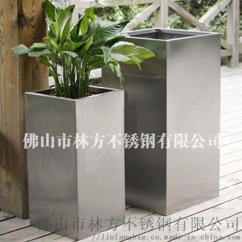 惠州海邊別墅擺設不鏽鋼花盆 時尚彩色不鏽鋼花盆