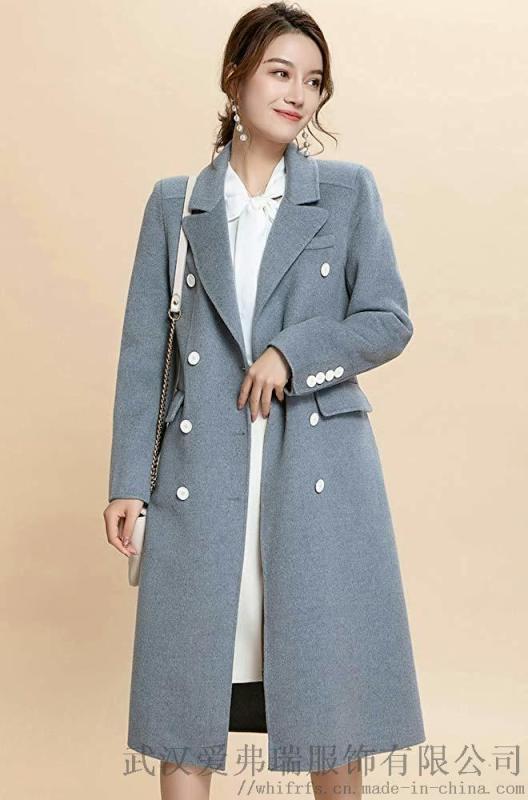 服装厂直接拿货厂家麦中林格子双面羊毛羊绒呢大衣女