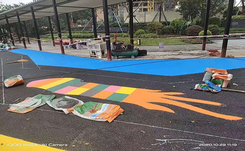 深圳幼儿园塑胶地板,塑胶跑道运动场施工