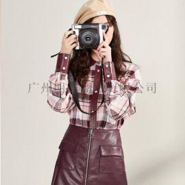 女装品牌MG时尚春装剪标折扣货源市场