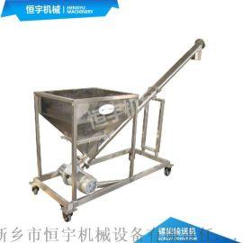 60度颗粒自动上料螺旋机,煤粉面粉管式螺旋输送机