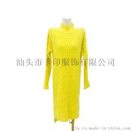 女式高领显瘦显瘦套头衫连衣裙KY-556