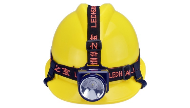 锂电充电头灯,头戴式安全帽矿灯,户外防水潜水头灯